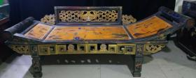 贵妃床,古玩 老家具 老漆器贵妃榻 长2米07,宽66厘米,高45厘米代理转图可以加价,运费自理。