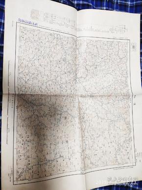 昭和七年 伪满洲国怀仁地图(现辽宁恒仁县附近) 大日本帝国陆地测量部