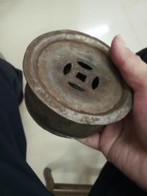 潮州工夫茶具,迷你型金钱锡茶船
