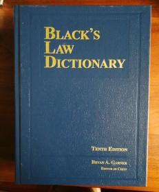 Blacks Law Dictionary 10th Edition 《布莱克法律大词典》第10版 英文原版