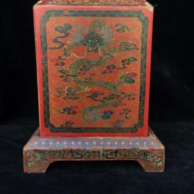 漆器龙纹印章盒