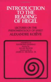 Introduction to the Reading of Hegel:Lectures on the Phenomenology of Spirit