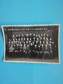 哈尔滨市首届红十字少年卫生员训练班毕业留影老照片长16宽10.8厘米