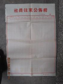 凤阳小岗村收来的空白巨幅《社员往来公布榜》,保老保真,罕见大锅饭的见证,存于b纸箱276