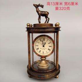 纯铜镶钻小鹿机械表尺寸重量如图