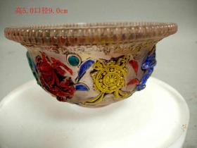 清代画工精致的水晶碗