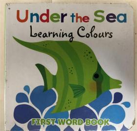 纸板书 under the sea learning colours  在海底学习颜色