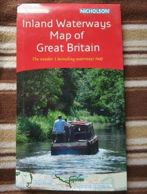 国外原版地图之Collins inland waterways map of Great Britain 英国内河航道地图
