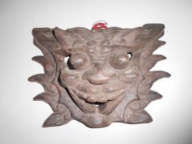 老户人家收来的【手工木雕,龙首】尺寸:32×22.5厘米