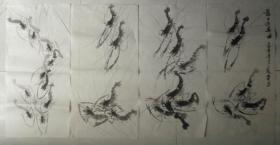 龙子游乐图组图四张