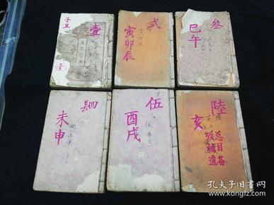 线装 康熙字典 全六册 光绪壬辰(1892)年上海凌云阁石印 品相如图