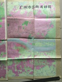 广州市区街道详图 1982年