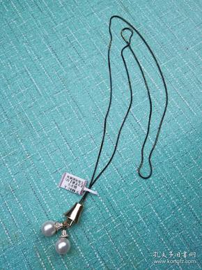 珍珠镶银 毛衣链