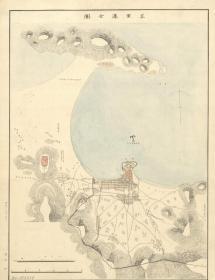《烟台老地图》《烟台地图》《芝罘老地图》《芝罘湾地图》《芝罘湾海图》《甲午战争芝罘湾地图》,1883年日本为甲午战争测绘,原图现藏国外,原图复制。裱框后,研究与欣赏价值均高。