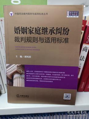婚姻家庭继承纠纷裁判规则与适用标准