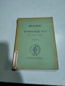 BRAHMS SYMPHONIE Nr 2:勃拉姆斯2号交响曲(外文)