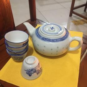 景德镇青花茶具一套