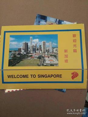 邮票,泰国拉玛九世国王,欢迎光临新加坡册内有中国贵宾照片邮票,看图