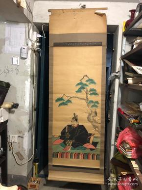 民国时期 半印半画 日本鬼子 武士像