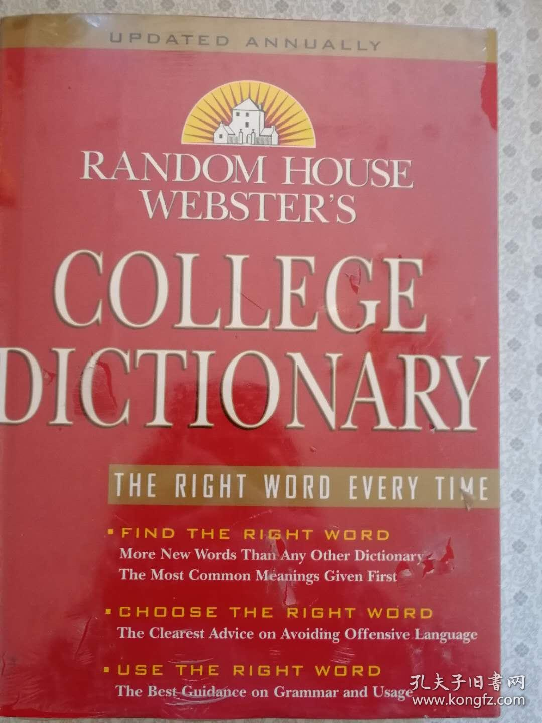 Random House Webster's College Dictionary  英文原版没开封近全新