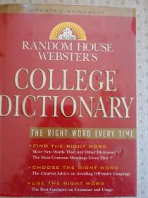 Random House Websters College Dictionary  英文原版没开封近全新