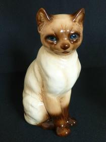 德国小众奢侈品牌暹罗猫瓷塑 尺寸:高20CM 无损品佳