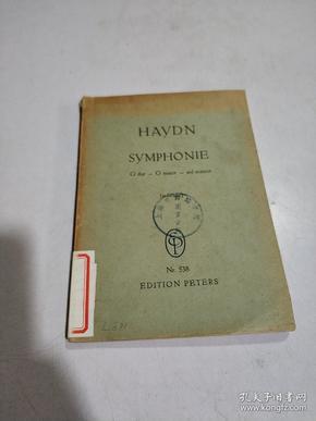 HAYDN SYMPHONIE Nr.538:海顿G大调第100号(军队)交响乐(袖珍总谱)(外文)