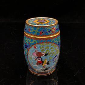 景泰蓝蝈蝈罐宽7 高10.3厘米