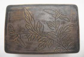 老 铜墨盒.