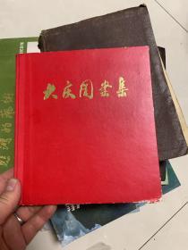 文革后期:大庆图案集(24开)1977年3月出版,有语录,红黑套印。 精装本!