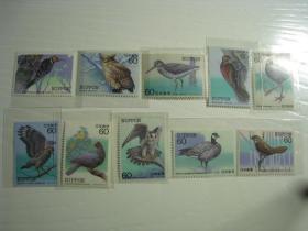 日本邮票1986-84年鸟10全新