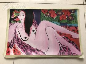 油画 裸女 两幅 尺寸为60*40*2