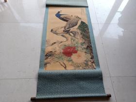 清代名人花鸟绢画一幅2