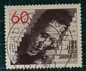 德国邮票----作家施基诞生100周年(信销票)