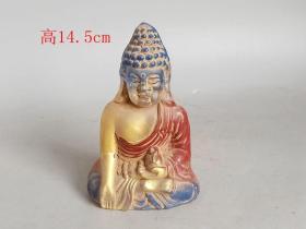 辽代老琉璃佛像1