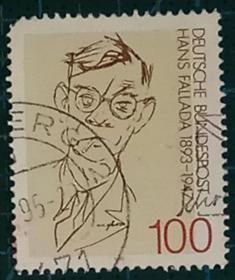 德国邮票----作家 汉斯-法拉达诞生100周年(信销票)