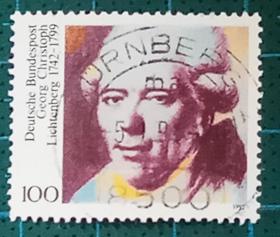 德国邮票-----物理学家克里斯多夫(信销票)