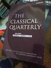 THE CLASSICAL QUARTERLY  VOLUME  67.NUMBER  1.2017