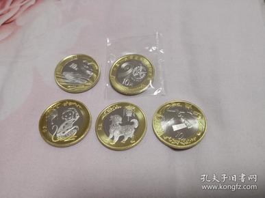 2015~2018  建军90周年币, 航天币, 生肖币, 高铁币等纪念币共5枚不同 合售, 其中航天币是龙头