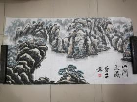 [3459华子山水画一幅,横幅
