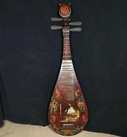 清中期漆器琵琶摆件Z