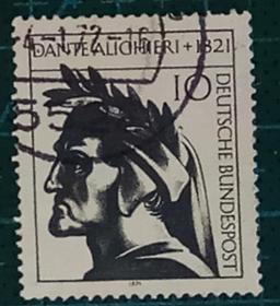 德国邮票----诗人但�。ㄐ畔保�