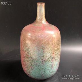 宋钧瓷窑变花瓶
