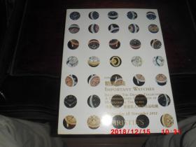 CHRISTIES  香港佳士得  2012  精致名表 .重要私人时计珍品收藏