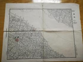 1948年华东军区司令部―江苏庙镇地图(崇明县,少见)