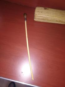 清或民国间文房用的 珍贵材质xy镶银毛笔