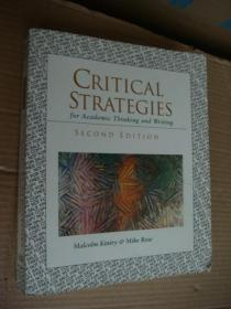 CRITICAL STRATEGIES for Academic thinking and writing  <文学思想和写作批评技巧〉英文原版 大16开 厚重本