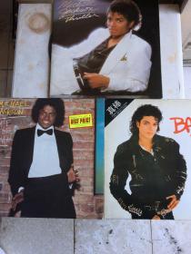 迈克尔·杰克逊 黑胶唱片 《墙外》1979年发行、《颤栗》1982年发行、《真棒》1987年发 (3碟合售)唱片完好如初、无划痕