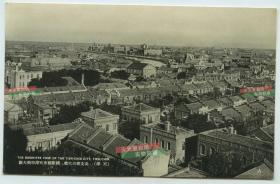 民国天津城市俯瞰全景老明信片