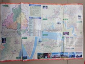肇庆市交通游览图  1999年